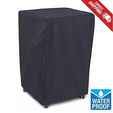"""Electric Smoker Cover Square 40"""" Black Heavy Duty Waterproof Protection Outdoor"""