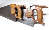 SPECTACULAR SET DISSTON D-8 SAWS THUMBHOLE RIP – 1896-1917 - Hand Sharpened