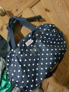 Cath Kidston Blue Large Dotted Travel Holdall