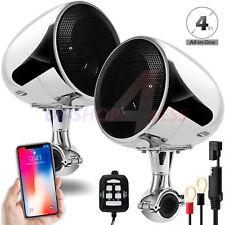 300W Waterproof Bluetooth Motorcycle Stereo Speakers MP3 Amplifer System Harley