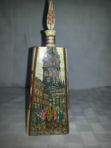 Turkish Handpainted Bottle Perfume Camel Bone Sculpture Perfume Middle East