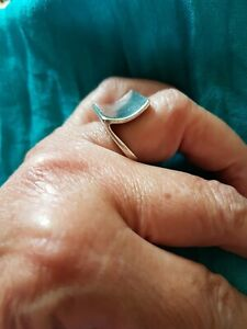 925 Silver, Very Unusual Chunky Ring