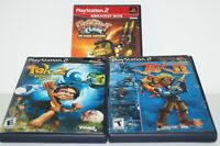 Lot of 3 PS2 Adventures Games Jak II/Tak 2/Ratchet & Clank Sony PlayStation 2