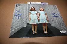 THE SHINING GRADY TWINS LISA & LOUISE BURNS SIGNED 8X10 PHOTO RARE POSE 5 JSA