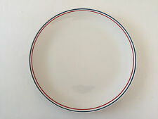 "Barker Bros Ltd Royal Tudor Ware BAB12 Red Blue Band Stripe 10-1/4"" DINNER PLATE"