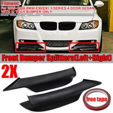 For BMW 05-08 E90 E91 3 SERIES M TECH Matte Black Front Bumper Splitter Spoiler