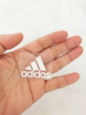 White adidas triangle sport logo sticker iron on 4.4x3 cm. patch velvet&glue DIY