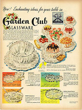 Vintage 1950 Magazine Ad For Garden Club Glassware And Kroehler Sofa & Chair