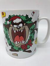 Warner Bros Taz Tasmanian Devil Christmas Wreath Oversize Mug 32 Oz