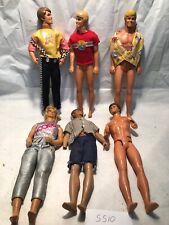 Lot Of 6 1968 Mattel Ken Dolls