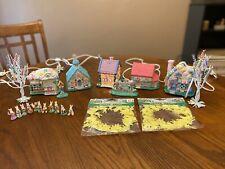 Cottages Bunny Village Huge Set Home Decor Easter Holiday Figurines