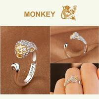One Piece Monkey D Luffy Ring 925 White Gold Cos Christmas Gift Adjustable Boy