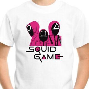 Squid Game T-Shirt Men's Adults Kids Gift Birthday Netflix Fan Gamer Top Tee V3
