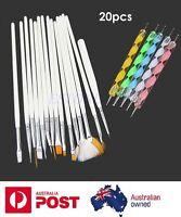 20pcs Nail Art Design Brushes Set Dotting Painting Drawing Polish Pen Tools Kit