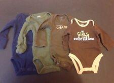 Lot Of 4 Carter's Newborn Boys Long Sleeved Bodysuit