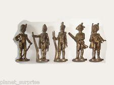 METAL FIGURINES SET - EUROPEAN SOLDIERS 1795-1814 BRASS VINTAGE KINDER SURPRISE