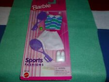 Mattel Barbie's Tennis Sports Fashions 1996 Clothes & Accessories New In Package