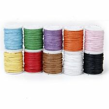 10 Rolls Color Mixed Cord Cotton Wax String 1mm wire for Pearl