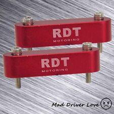 2x HOOD SPACER RISER 88-00 CIVIC EG EK EF 88-91 CRX 94-01 ACURA INTEGRA RED
