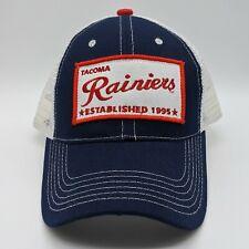 TACOMA RAINIERS MiLB Logo Patch Hat Strapback Mesh Cap Blue White NEW