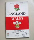 ENGLAND V WALES RUGBY UNION TWICKENHAM-MARCH 1984 #