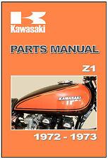 KAWASAKI Parts Manual Z1 Z900 KZ900 1972 and 1973 Replacement Spares Catalog