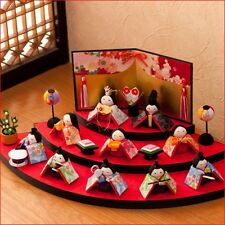 Set of Hina ningyo doll 3 stage Japanese Chirimen traditional doll  Made in japa