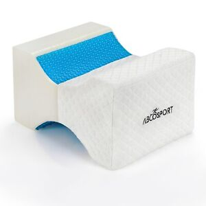 Abco Tech Memory Foam Knee Pillow with Cooling Gel Leg Pillow and Washable Cover