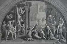 New listing Antique Original 1880's Ancient Roman Scene Engraving Art History
