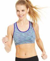 Ideology Womens Seamless Mid Impact Sports Bra Cool Multi Space Dye Size Medium