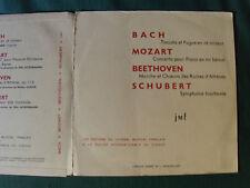 ZURICH-TONHALLE dir ACKERMANN: Bach, Mozart, Beethoven, Schubert 25 cm LP CHS 54