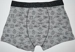 STAR WARS PANTS Mens GREY Boxers Underwear Sizes M - XXL