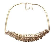 Exquisite Layered Golden Leaf / Slim Golden Chain & Adjustable Necklace(Ns18/8)