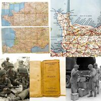 WWII 1944 U.S. Army Corp of Engineers Normandy Central France Road Map Relic