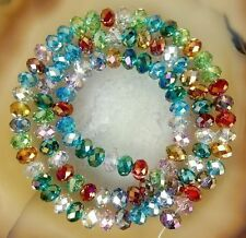 Hot Selling! 6x8mm New FacetedJewelry Crafts Glass Crystal Beads