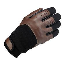 BILTWELL Bantam Gants de moto,cuir synthétique mélange, marron noir taille XS