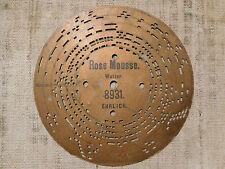 Disco di cartone per Organetto a Manovella n. 8931 Rose Mousse walzer