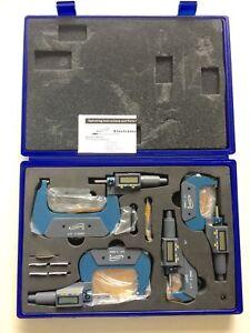"iGaging 0-4"" Digital Electronic Micrometer Set 0-1"", 1-2"", 2-3"", 3-4"" Large LCD"
