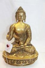 "F636 Exclusive Metal Statue of  Blessing Buddha 12.9"" tall Hand Crafted in Nepal"