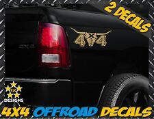 4x4 Longhorn Truck Bed Decals METALLIC GOLD Ford F150 Chevy Toyota GMC Dodge Ram
