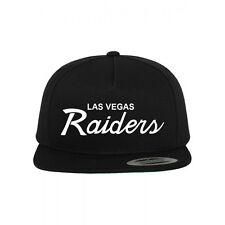 Las Vegas Raiders Script 2017 NFL Custom Snapback Hat New-Black