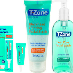 Zapping Gel T-Zone Skin Care Rapid Action Spot Gel, Scrub & Face Wash 3 Pcs Set