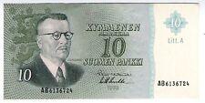 **   FINLANDE     10  markka   1963   p-104a .68    UNC   **