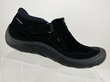 Clarks Privo Waterproof Black Leather Slip On Walking Trail Shoes Womens 11M
