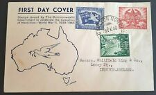 1946 Australia Stamp Fdc - Airmail - Full Set End Of Wwii - Victoria