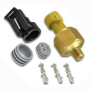 AEM 30-2131-100 100 PSIg Brass Pressure Sensor Kit w/ Connectors & Pins 1/8 NPT