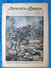 La Domenica del Corriere 11 novembre 1917 WW1 Bersaglieri - Manovre - Austria