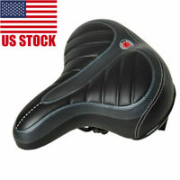 Wide Big Bum Bike Bicycle Gel Cruiser Extra Sporty Soft Pad Saddle Seat US NEW