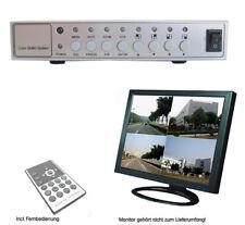 4 CH  Kanal Quad Multiplexer Splitter 4fach Splitt Überwachungskamera Monitor
