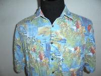 vintage crazy pattern Hemd hawaiihemd Viskose 90er Oberhemd 90s surf Gr. L
